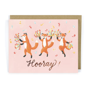 Red Fox Hooray! - Congrats Card