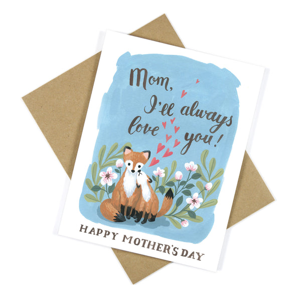 Loving Red Fox Mother's Day Greeting Card