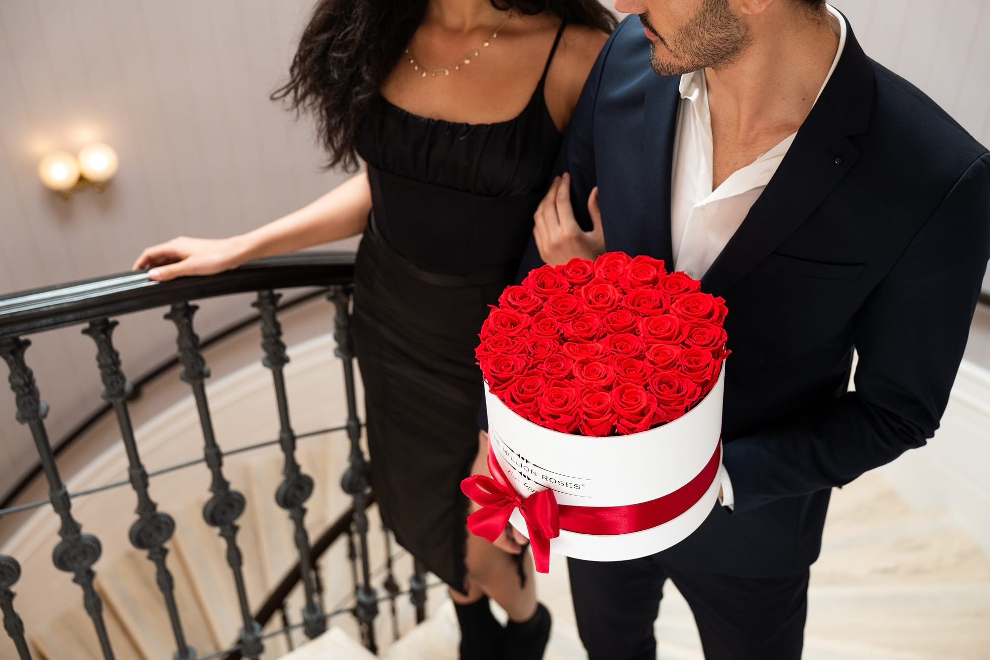 Couple With Red Roses