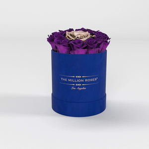 basic round box - royal-blue suede (LA) basic round - the million roses