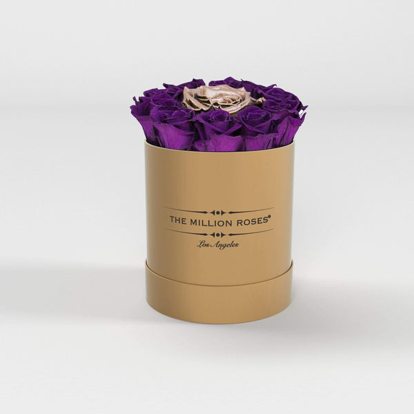 basic round box - gold (LA) basic round - the million roses