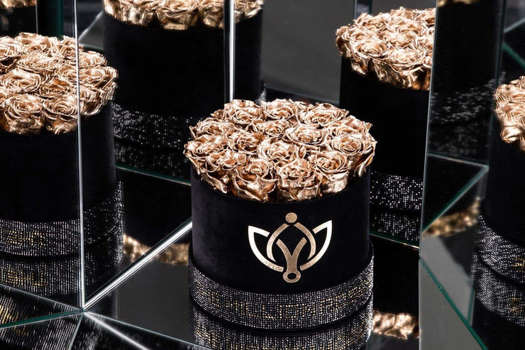 Black - Crystal Edition Box with Gold Roses