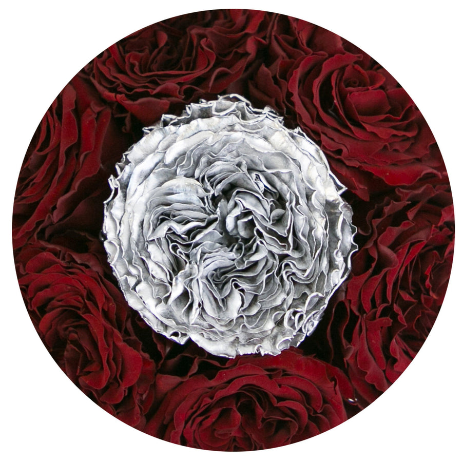 the million basic+ - mirror-silver box - red&silver(in middle) celestial roses celestial roses - the million roses