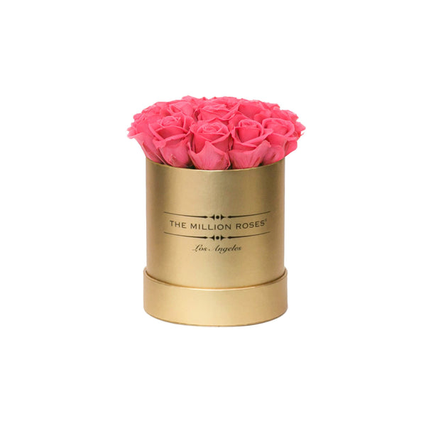 the million basic box - gold - dusty-pink ETERNITY roses pink eternity roses - the million roses