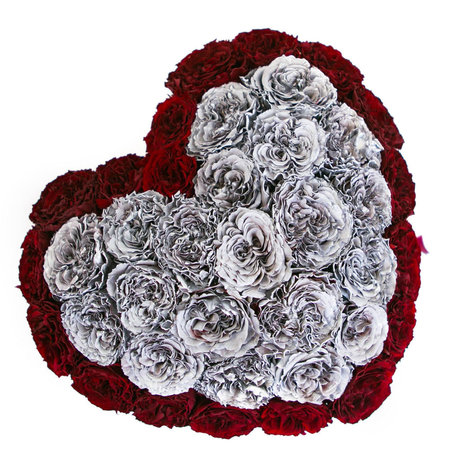 the million LOVE+ - mirror-silver box - red&silver(full in middle - dome) celestial roses celestial roses - the million roses