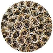 the million medium+ - gold&black box - gold ETERNITY roses gold eternity roses - the million roses