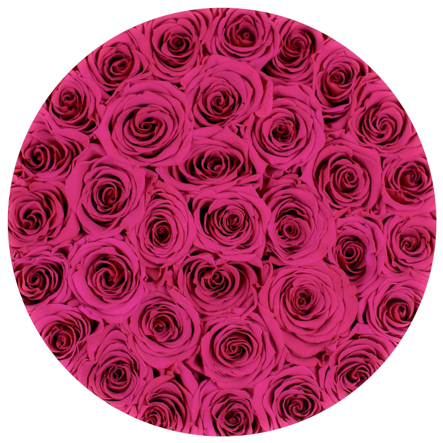"the million roses medium round box - ""Love Collection"" limited edition ""flamingo"" pink eternity roses - the million roses"
