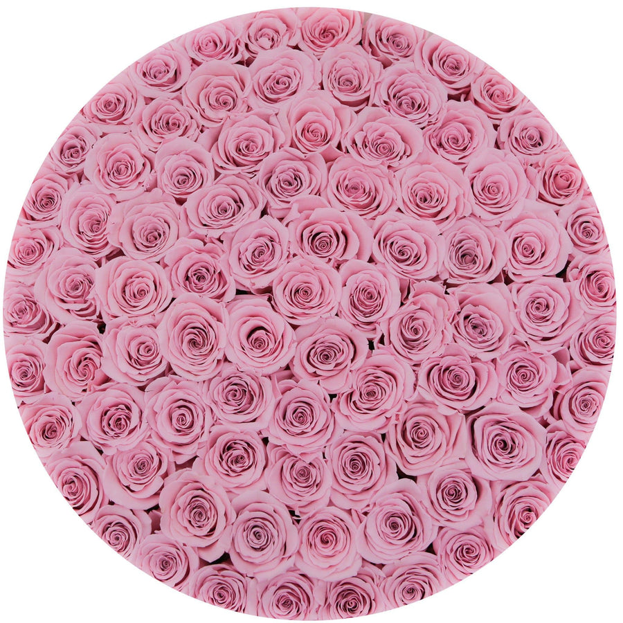 the million LARGE box - pink - light-pink ETERNITY roses pink eternity roses - the million roses