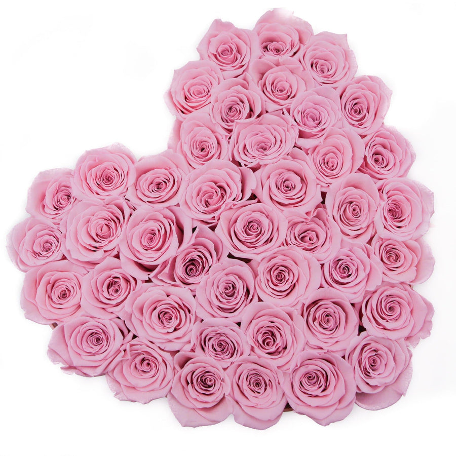 LOVE box - pink - light-pink ETERNITY roses pink eternity roses - the million roses
