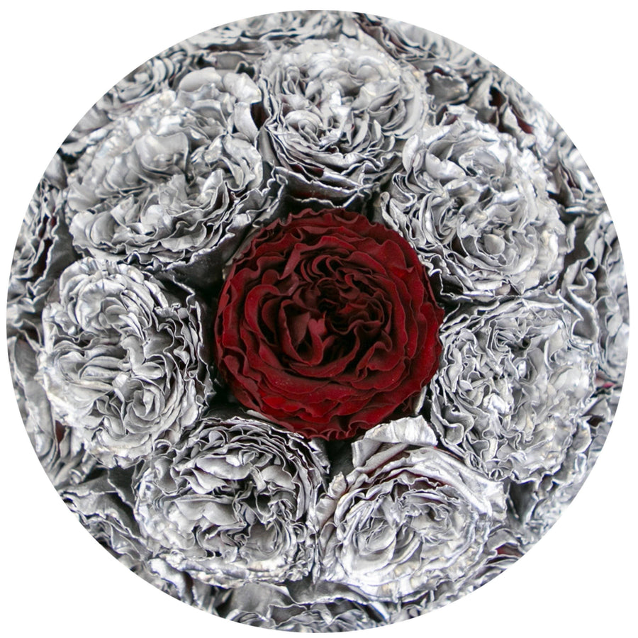 the million small+ - mirror-silver box - silver&red(one in middle) celestial roses celestial roses - the million roses