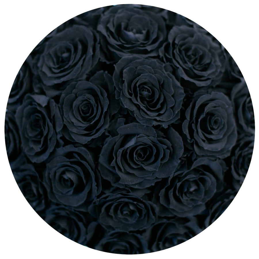 the million basic+ - glamour hot-pink suede box - black ETERNITY roses black eternity roses - the million roses