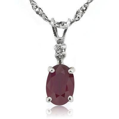 "by and diamond sterling silver pendant on a free matching 18"" steling silver chain. Gemstone size approximately 4mm by 6mm"