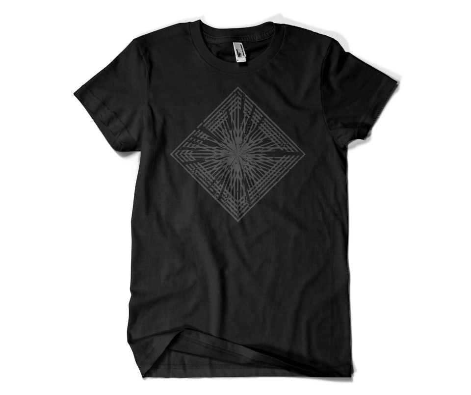 Piuma Grey Shine - Unisex Black Shirt
