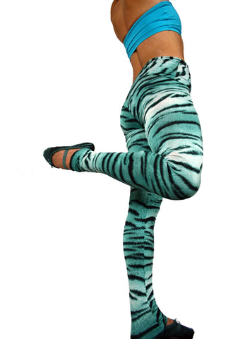 Aquamarine Tiger Print Fashion Legging