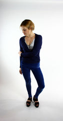 Ballet Inspired Wrap Jersey Navy