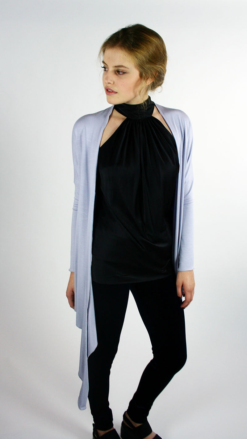 Ballet Inspired Wrap Jersey Moonlight Grey