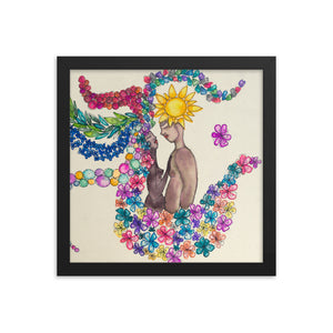 Divine Love, Water Color Framed Poster Print