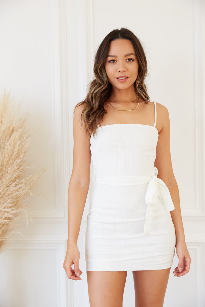 Eden Belted Knit Mini Dress