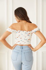 Stella Butterfly Mesh Cinched Top