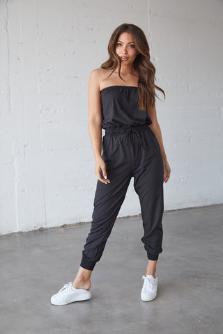 Now Or Never Strapless Jumpsuit