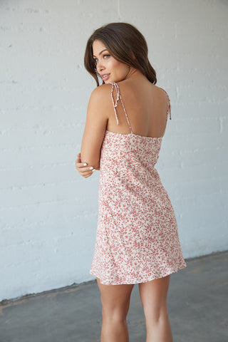 Indie Floral Mini Dress