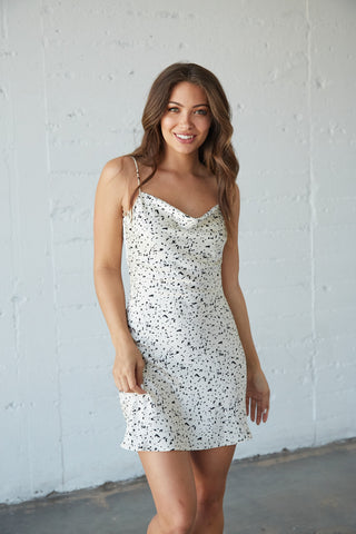 Gabrielle Speckled Mini Dress