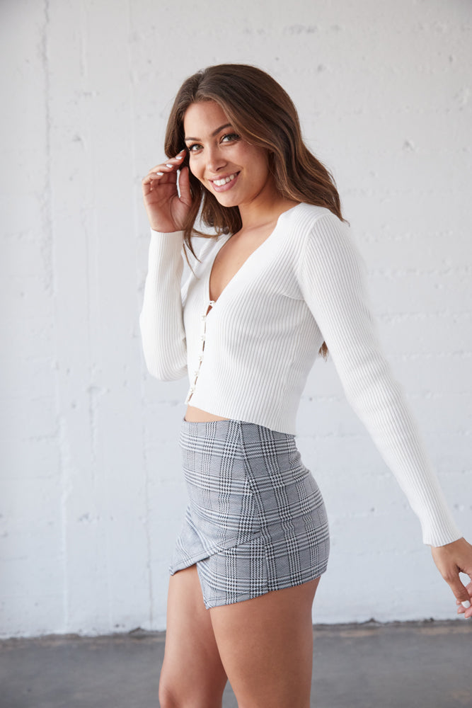 Paris Plaid Envelope Skort