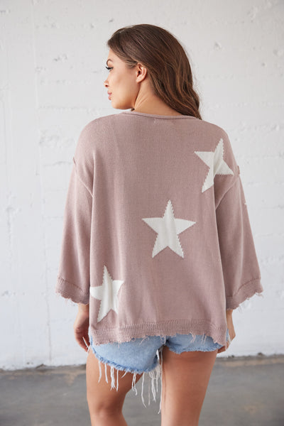 Spirit In The Sky Distressed Sweater
