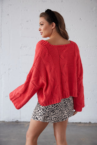 Sweet Emotion Cable Knit Sweater