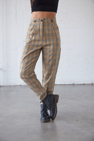 Temporary Love Plaid Pants