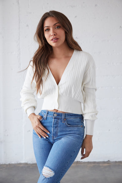 Roma Cardigan Crop Top