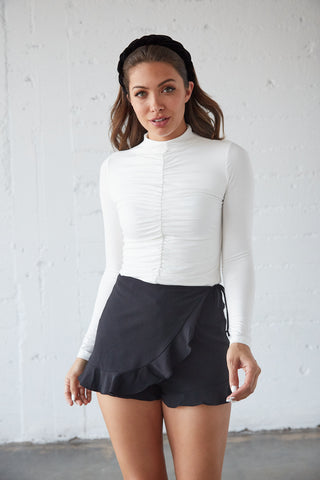 Slip Away Ruched Top