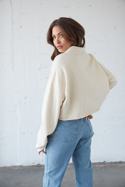 Hannah Crop Sweater Top