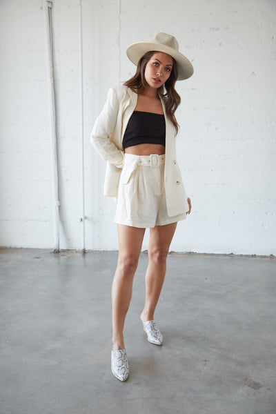 Native Daughters Maria Linen Shorts