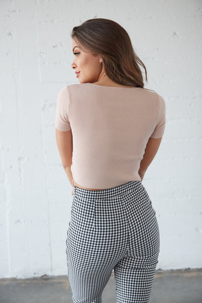 Rewind Knit Wrap Top