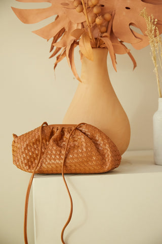 Reckless Woven Vegan Leather Bag