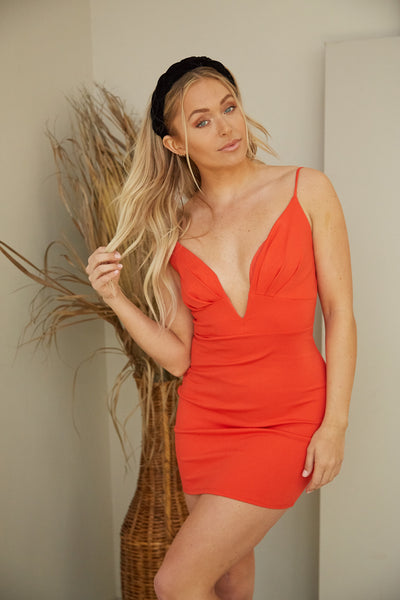 She's On Fire Bodycon Dress