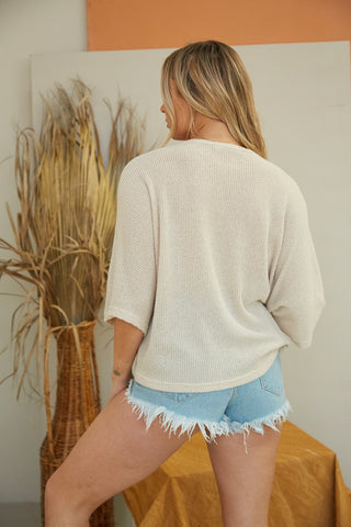 Yours Truly Cinched Knit Top