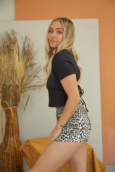 Native Daughters Layla Leopard Envelope Skort