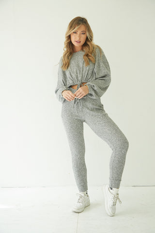 Ariana Ribbed Jogger Set