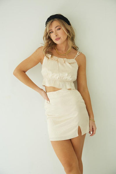 Happy Hour Satin Skirt Set
