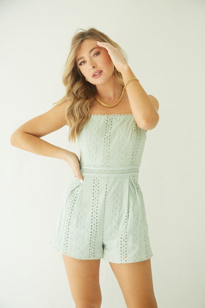 Dance Away Eyelet Romper