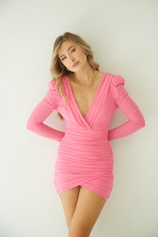 Cara Ruched Mini Dress