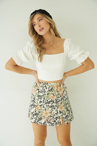 Hawaii Bound Mini Skirt