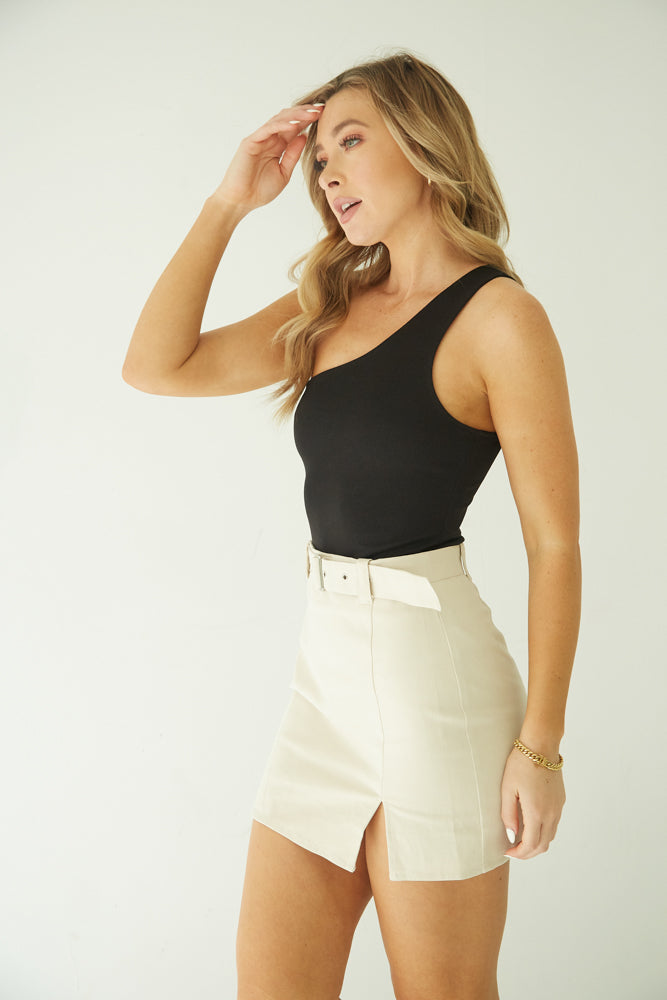 Paradise Belted Mini Skirt