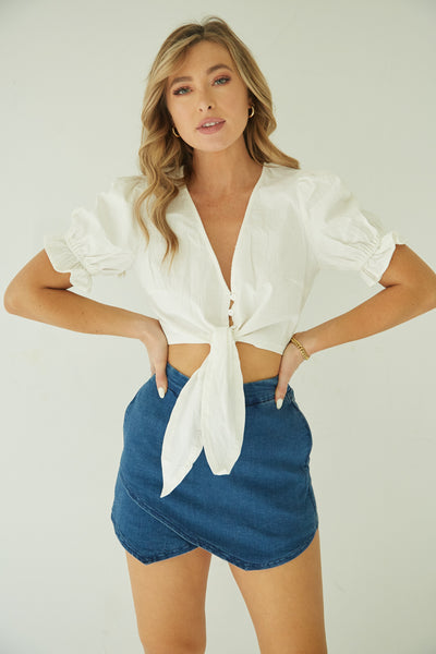 Bailey Denim Envelope Skort