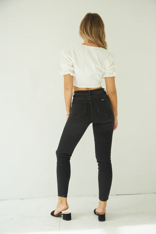 Rolla's Westcoast Skinny Jeans In Dusty Black