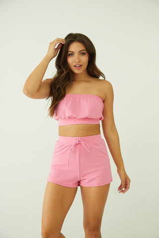Always Alright Tube Top Short Set