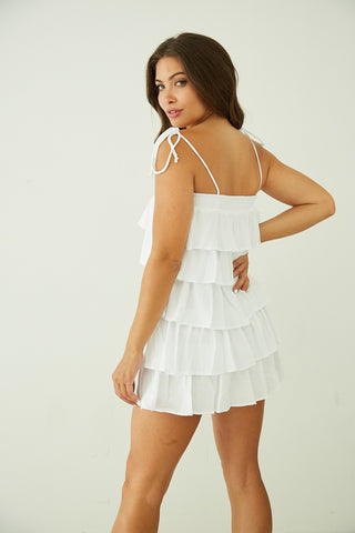 Skye Ruffle Tiered Mini Dress