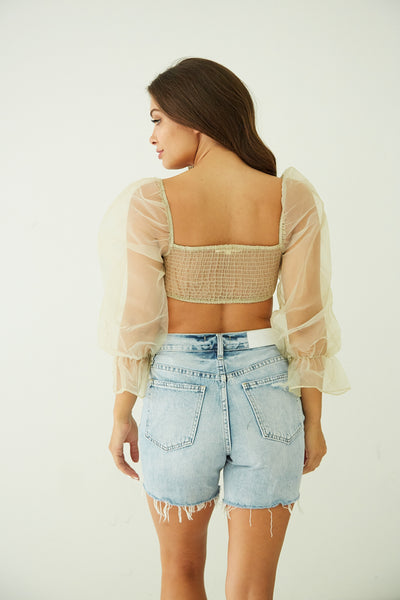 Native Daughters Love Theme Mesh Top